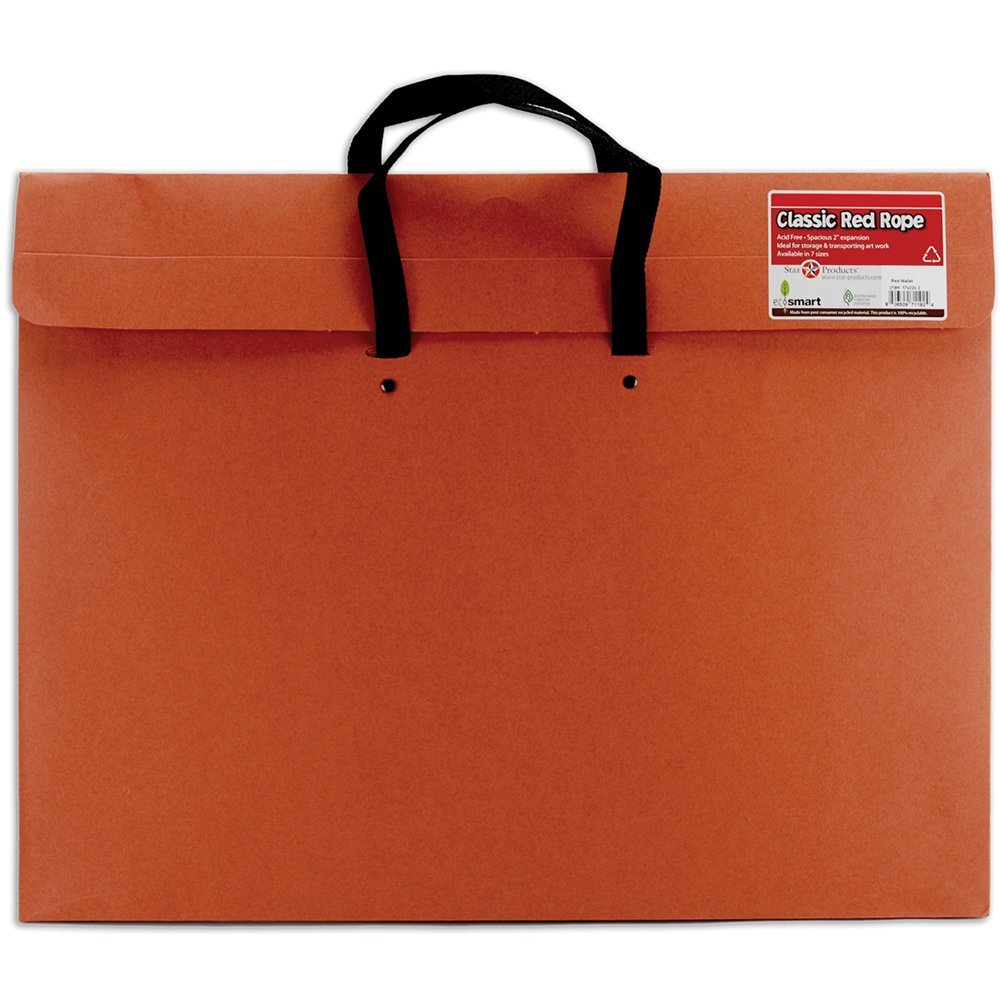 "Star Products - Red Fiber Art Envelope & Expanding Portfolio - Portfolios - 17"" x 22"""