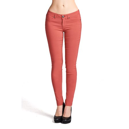 Emmalise Women's Basic Jean Look Jeggings Tights Spandex Skinny Leggings Bottoms (Red And Green Elf Tights)