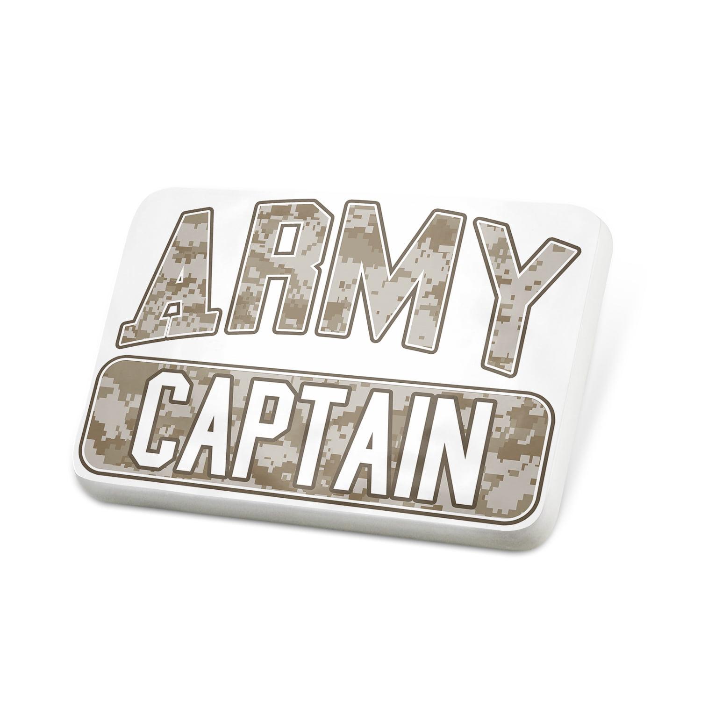Porcelein Pin ARMY Captain, Camo Lapel Badge – NEONBLOND