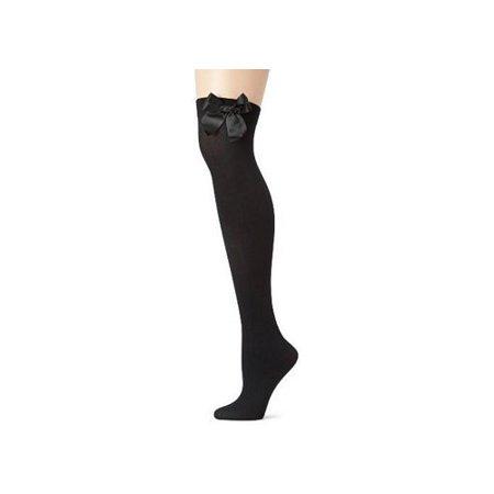 Leg Avenue Opaque Thigh High with Bow 6255LEG BL Black
