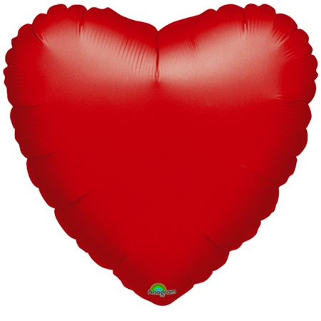 Seasonal Foil Balloons (Red Heart Helium Balloons)
