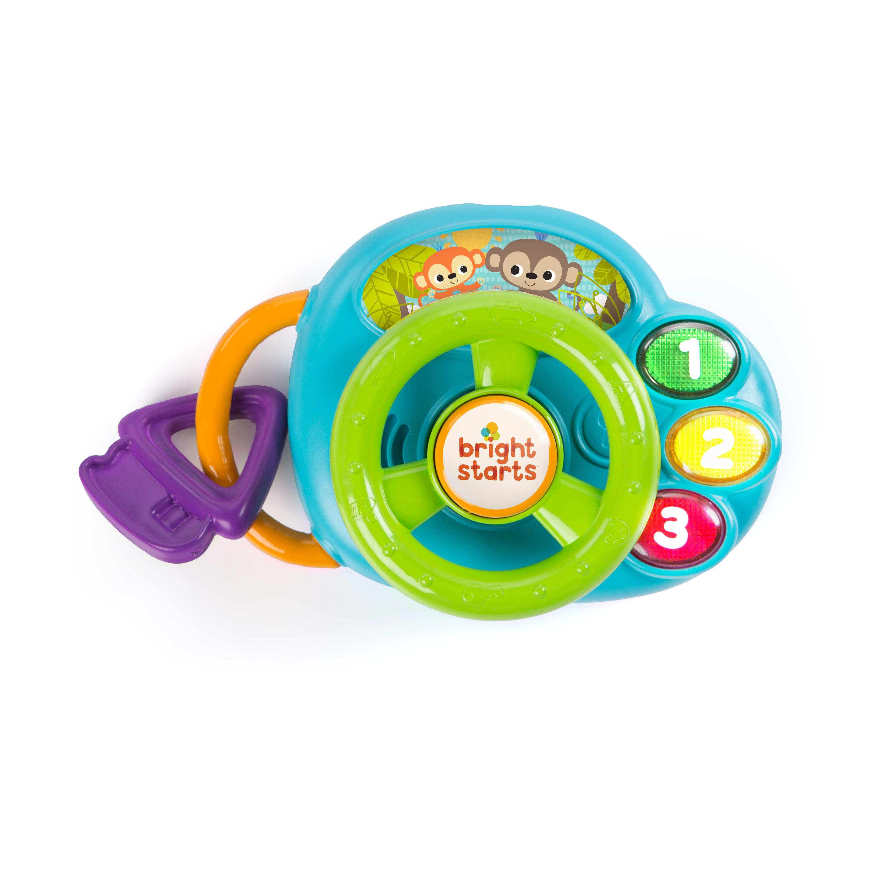 Bright Starts Lights & Laughs Driver Musical Toy with Lights