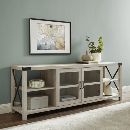 "Magnolia 70"" 2-Door White Oak TV Stand by Desert Fields"