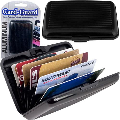 Trademark Aluminum Credit Card Wallet, RFID Blocking Case, Black
