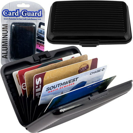 - Aluminum Credit Card Wallet, RFID Blocking Case, Black
