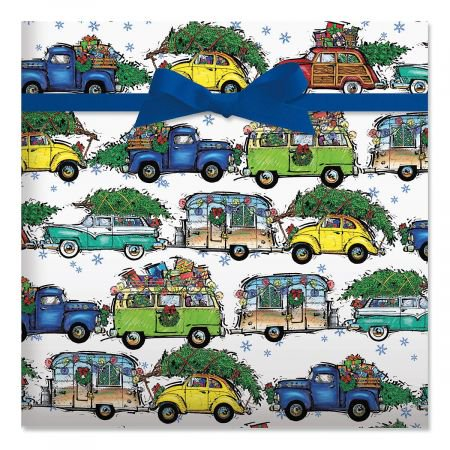 Christmas Vacation Jumbo Rolled Gift Wrap  72 Sq Ft