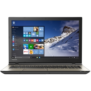 "Toshiba Brushed Metal 15.6"" Satellite S55-C5262 Laptop PC with Intel Core i7-5500U Processor, 12GB Memory, 1TB Hard Drive and Windows 10 Home"