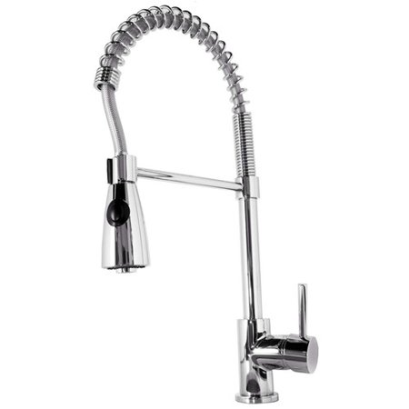 Virtu Usa Neso Single Handle Single Hole Kitchen Faucet With Pull Down Spray