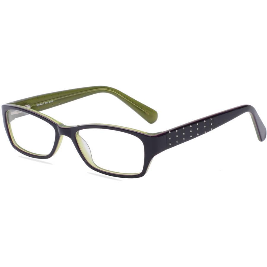 sally hansen womens prescription glasses sh25 purple green walmartcom