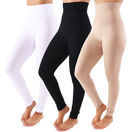 100fce2ad01 TD Collections - TD Collections Fleece Lined Leggings - High Waist Slimming  Thick Tights - Many Colors (Black Khaki   White) - Walmart.com