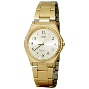 Mens Stainless Steel Numbered Analog Watch Gold Tone - MTP-1130N-9B