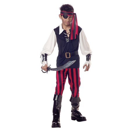 Cutthroat Pirate Costume - Child Medium(8-10), High Cutthroat Polyester Seas Buccaneer Small Bundle Large1012 Medium810 Kids Sheath with 100 Sword Costume Boys Pirate.., By California Costumes