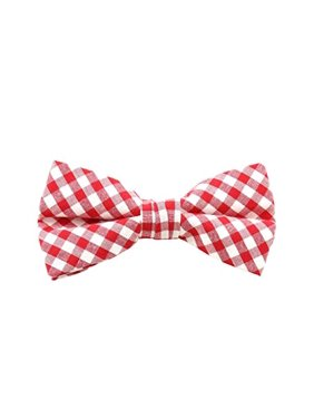 c580e99d41fc Product Image Mens Clip On Red Gingham Bow Ties. Absolute Stores