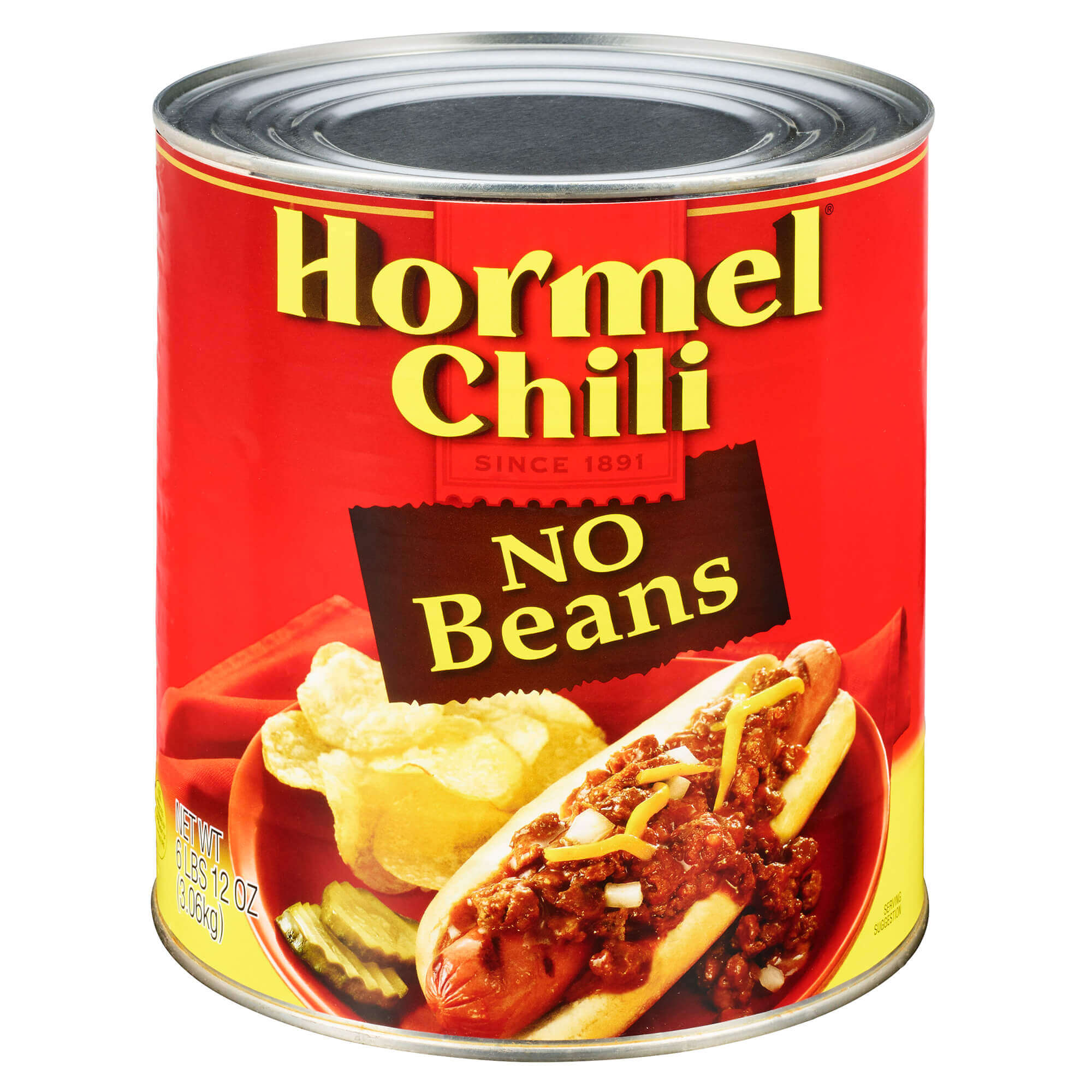 Hormel Chili No Beans, 108 Ounce