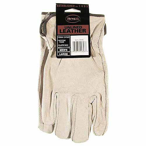 Boss Gloves 4068L Large Premium Grain Unlined Leather Gloves