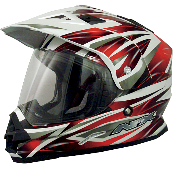 AFX FX-39DS Dual Sport Strike Full-face Street Helmet Red