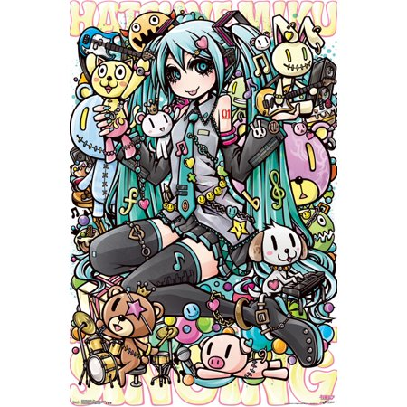 Trends International Hatsune Miku Toys Wall Poster 22375 X 34