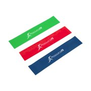 ProSource Loop Resistance Bands Set of 3, 2-inch Wide for Leg Exercises and Physical Therapy-Assorted