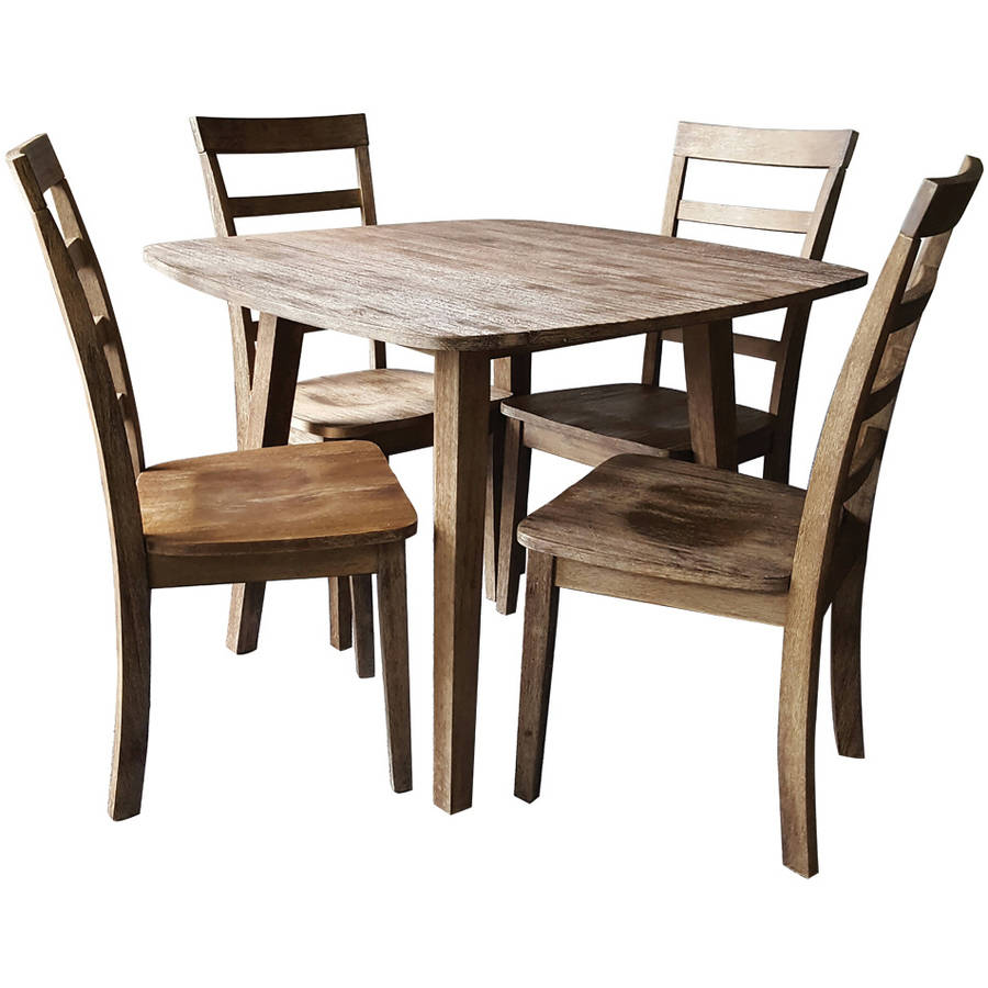 Boraam Boulder 5-Piece Dining Room Set, Gray Wire Brushed by Boraam Industries