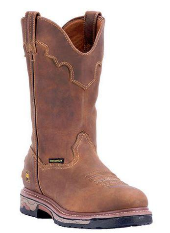 "Dan Post Men's 11"" Saddle WaterProof Tan, DP69502 by DAN POST"