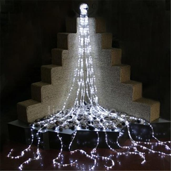 Queens of Christmas LED-WATERFALL-BL 16 ft.  Blue LED Waterfall Lights