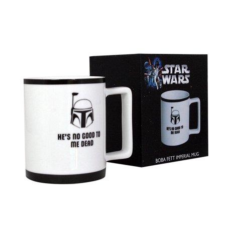 Star Wars Mug - Boba Fett Imperial Porcelain Coffee Cup - 10 oz