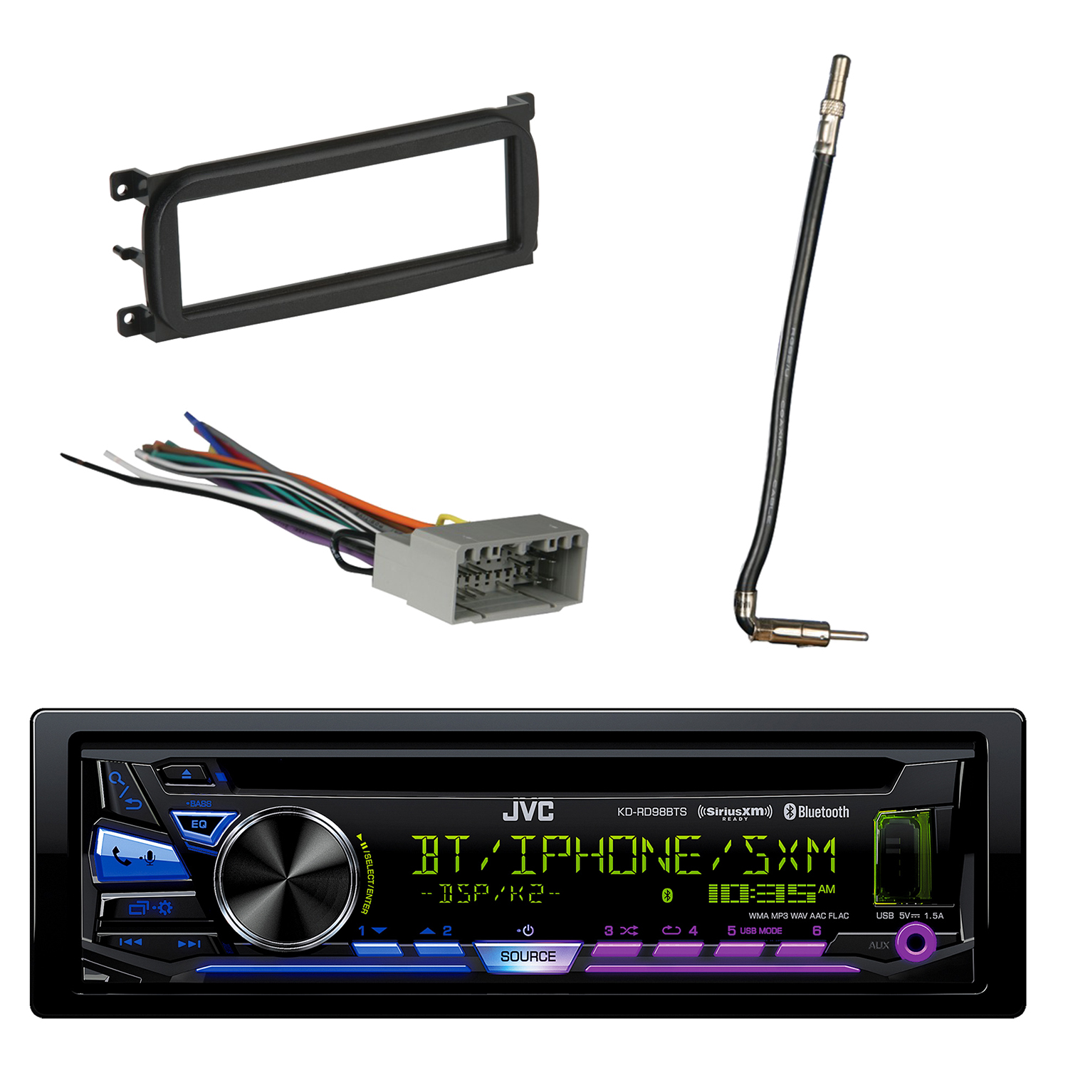 Metra Car Audio Wire Harness Free Download Stereo Jvc 1 Din Bluetooth Cd Am Fm With Dash Kit For Chry Solidsignal Com Crutchfield Wiring