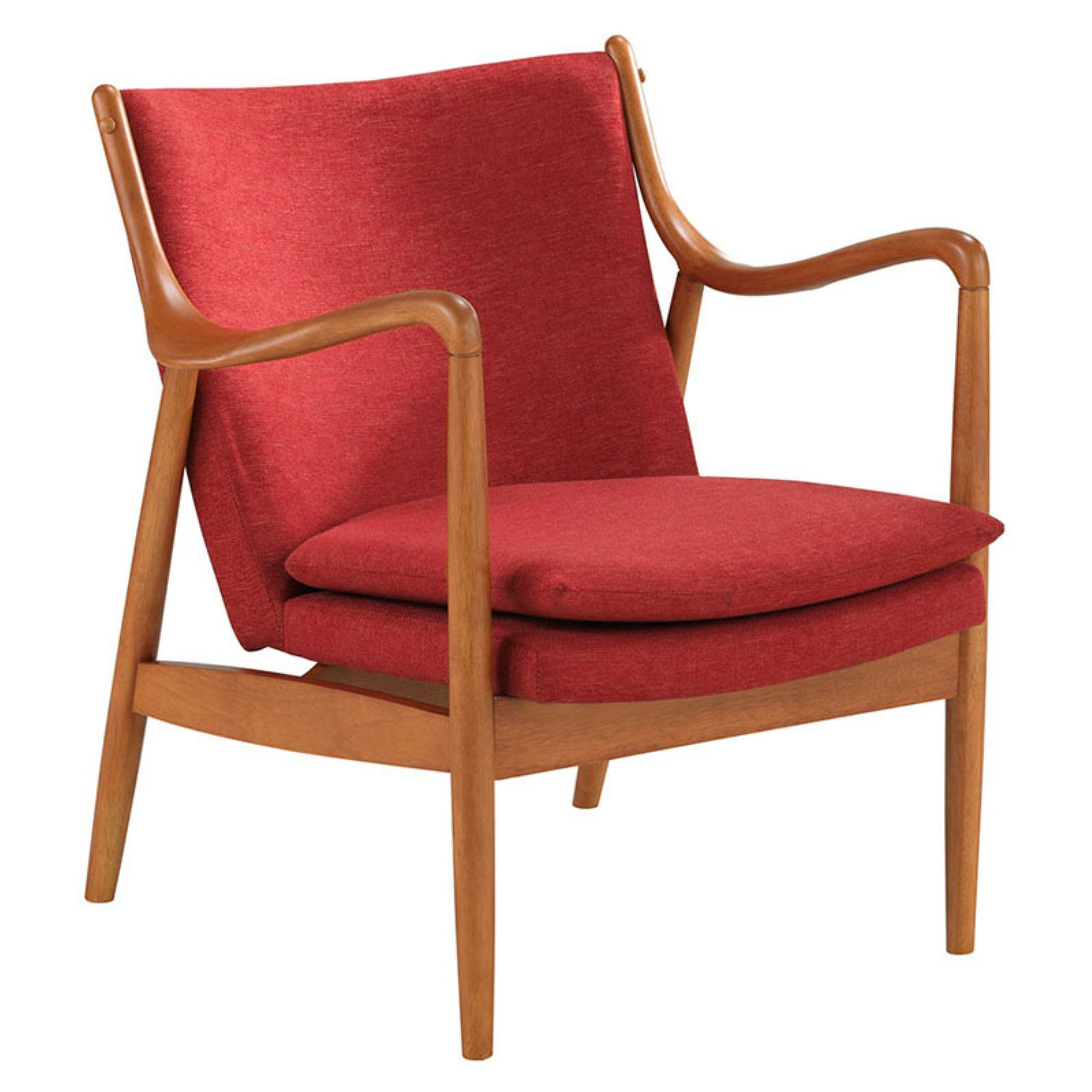 Patrick Mid Century Accent Chair: Baxton Studio Shakespeare Mid-Century Modern Retro Red