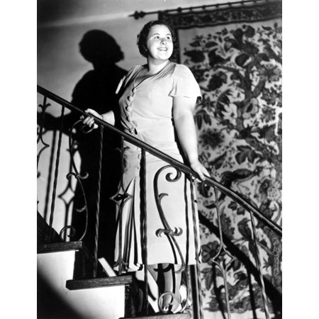 Kate Smith Posed on Stair in Dress Outfit Photo Print (Sith Outfit)