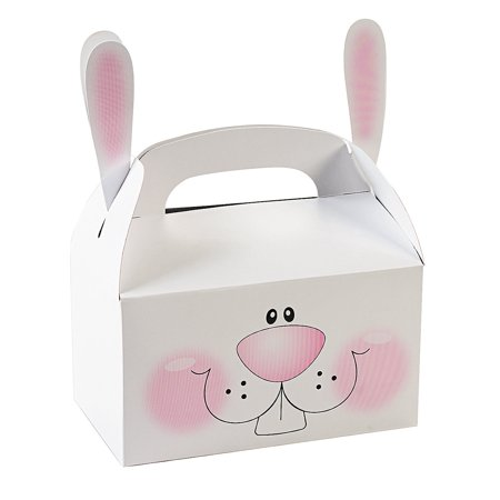 Fun Express - Bunny Treat Box With Ears for Easter - Party Supplies - Containers & Boxes - Paper Boxes - Easter - 12 Pieces](Easter Treat Ideas)