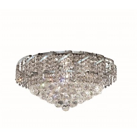 "Elegant Lighting Belenus 20"" 8 Light Spectra Crystal Flush Mount - image 1 de 1"