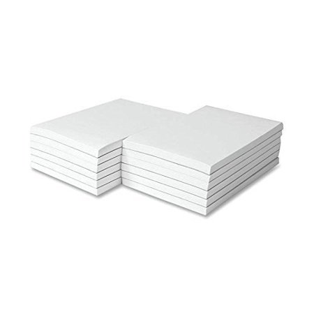 (White 4 x 6 Note Pads / Memo Pads / Scratch Pads / Writing pads - 50 Sheets Per Pad, 10 Pads)
