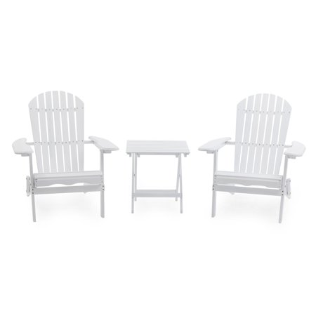 Belham Living Cape Cod Painted Adirondack Chair - Set of 2 with Free Side Table ()