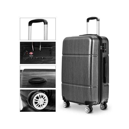 "Costway 3Pc Luggage Set 20"" 24"" 28"" Trolley Suitcase ABS+PC Spinner w/TSA Lock - image 2 de 10"