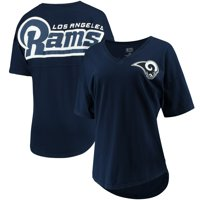 Los Angeles Rams NFL Pro Line by Fanatics Branded Women's Spirit Jersey Goal Line V-Neck T-Shirt - Navy