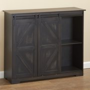 Distressed Sideboard Buffet Cabinet with Sliding Rail Barn Doors