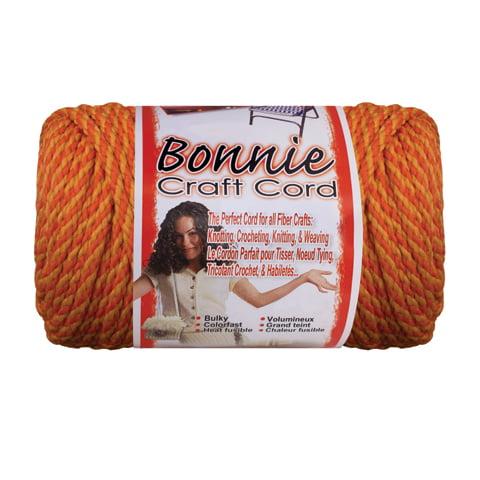 Bonnie Macrame Craft Cord - Black Licorice - 6mm x 100 yards - Made in USA