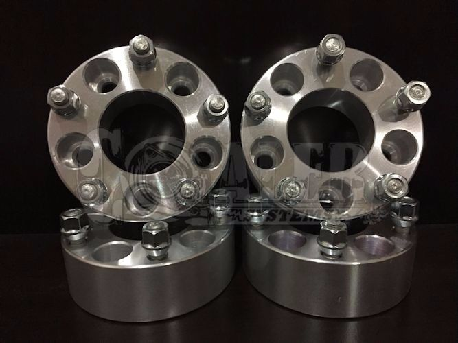 "2 X Mustang GT Wheel Spacers 1/"" Adapter Aluminum Set 5 Bolt Lug Hub 5x4.5"