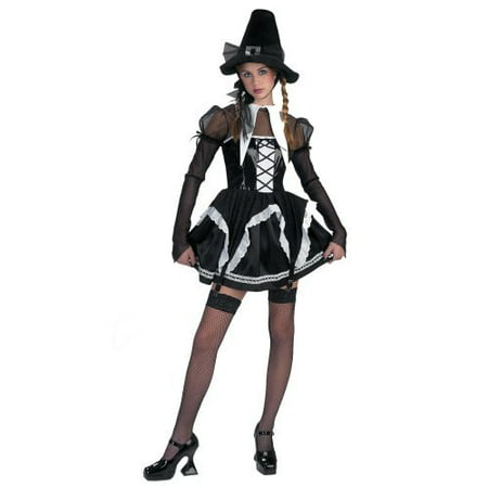 Disguise Womens 'Salem Witch' Halloween Costume, Black/White, M (Halloween Makeover Virtual)