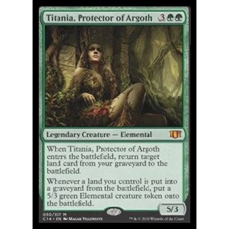 Magic Gathering Singles - - Titania, Protector of Argoth (050/337) - Commander 2014, A single individual card from the Magic: the Gathering (MTG) trading and.., By Magic: the Gathering