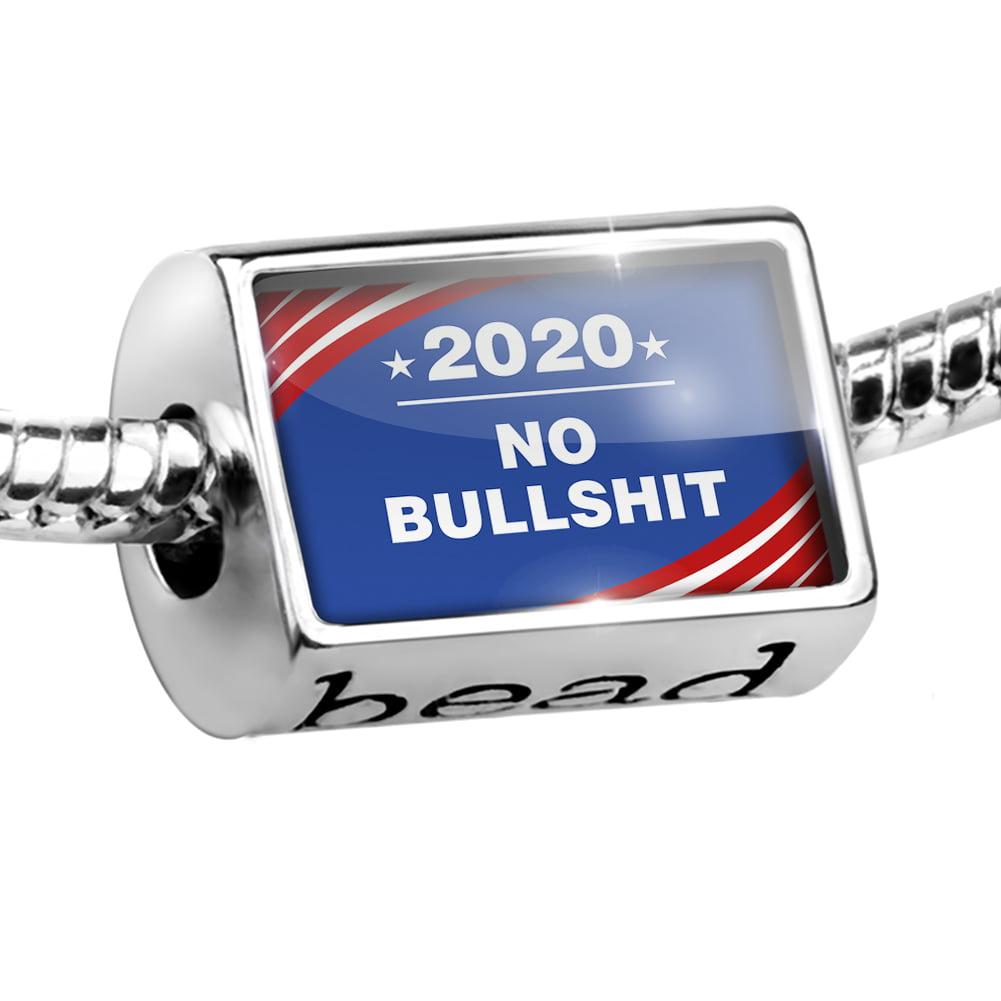 Bead Funny Election Sign No Bulls--t 2020 Charm Fits All European Bracelets