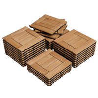 """27pcs Wooden Floor Tiles for Outdoor & Indoor 12"""" x 12"""",Natural Wood"""
