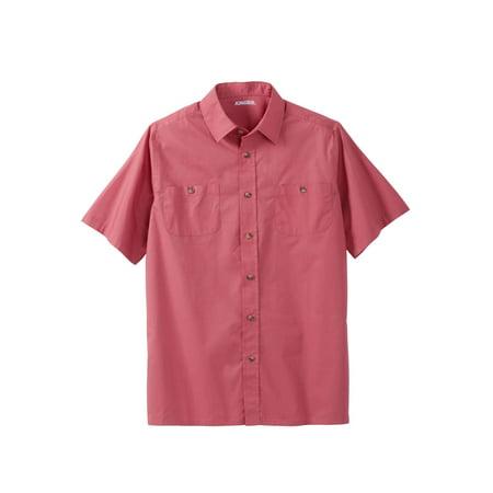 Men's Big & Tall Short Sleeve Solid Sport Shirt (Big And Tall Short Sleeve Dress Shirts)