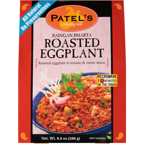 Patel's Baingan Bharta Roasted Eggplant, 9.9 oz, (Pack of 10)