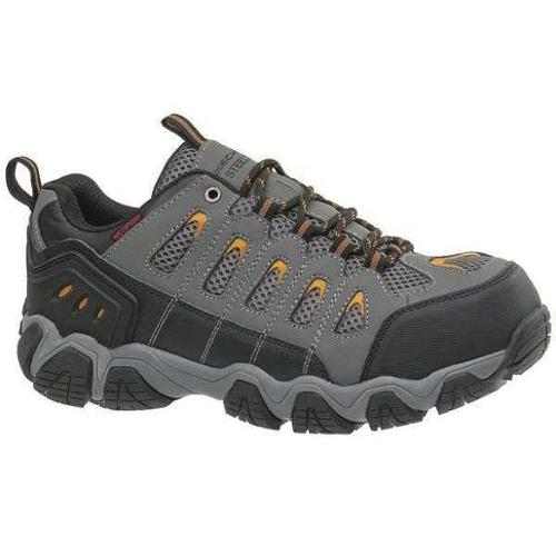 Skechers Size 10-1/2 Steel Toe Hiking Boots, Men's, Dark Gray, D, 77051 -DKGY SZ 10.5