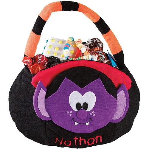 Personalized Plush Halloween Trick or Treat Bag, Dracula