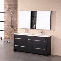 Design Element DEC079A Perfecta 63 in. Espresso Finish Double Sink Vanity Set