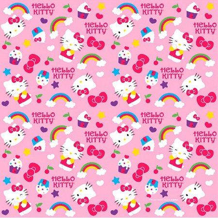 Hello Kitty 'Rainbow' Roll of Gift Wrap (20 - Gift Wrapping Supplies