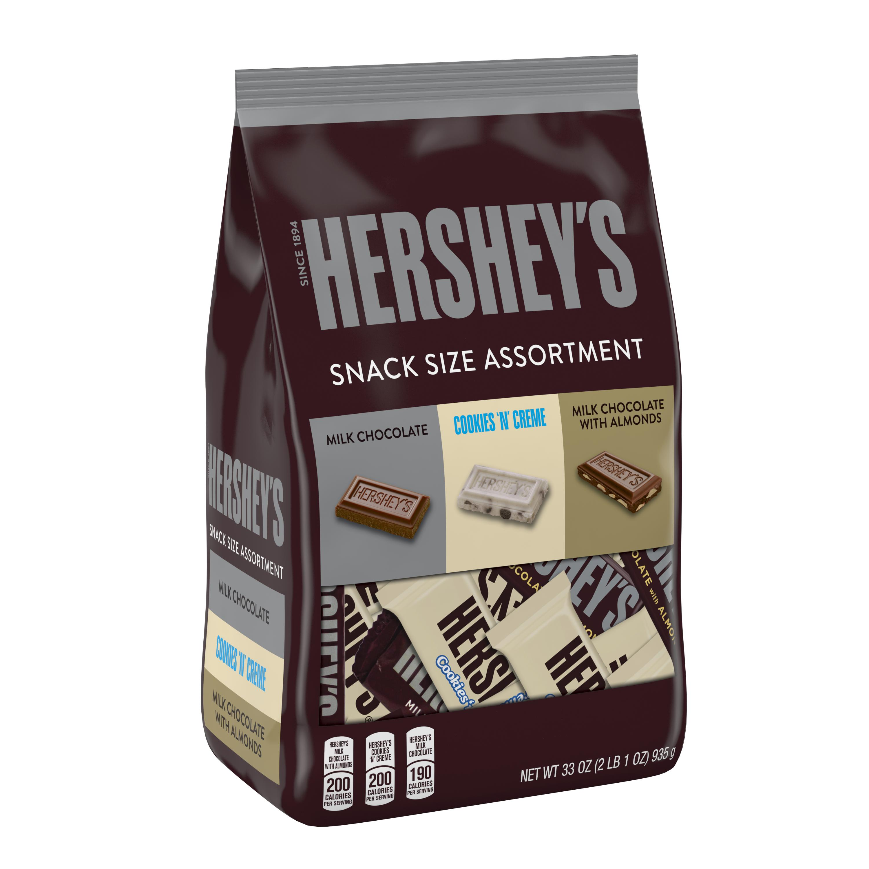 Hershey Snack Size Assortment, 33 oz