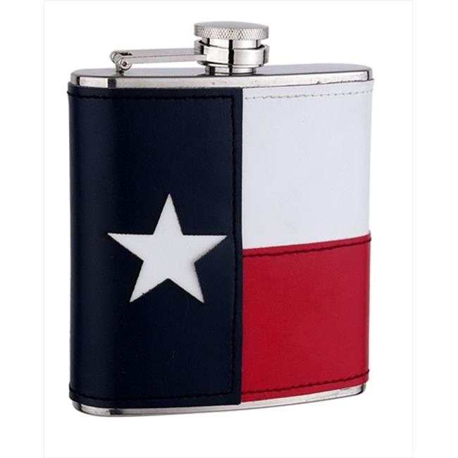 FJX Wholesale HFL-FA001T 6oz Texas Flag Flask